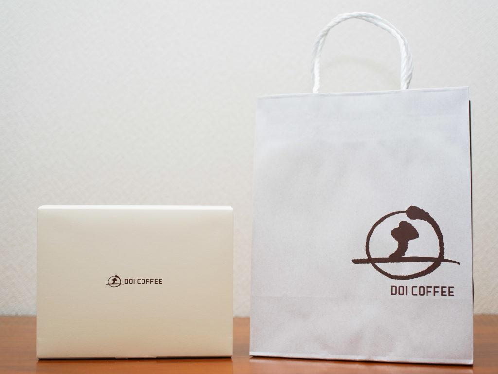 土居珈琲の包装箱