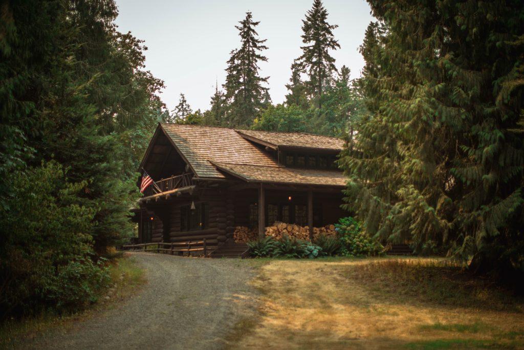 山小屋の写真